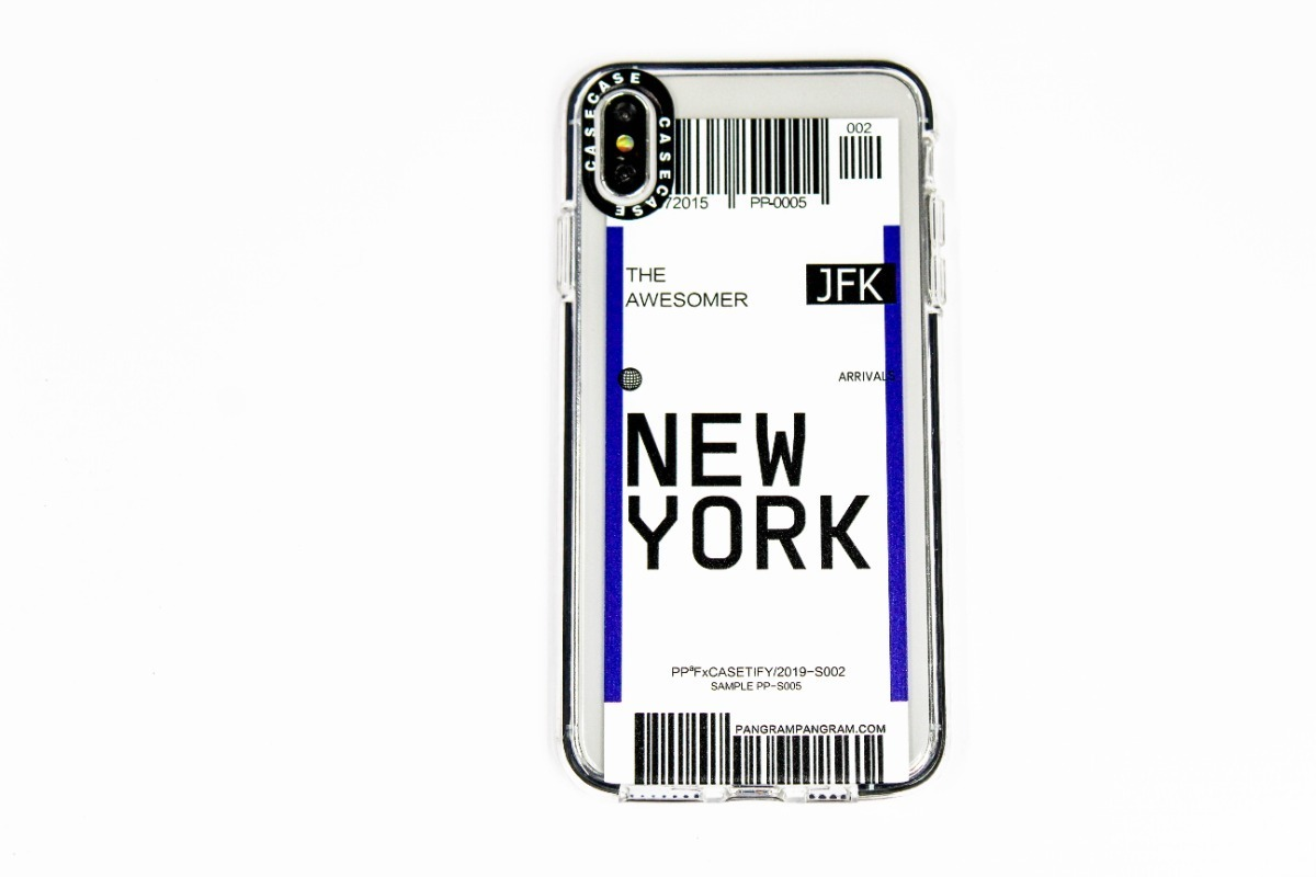 FUNDA TICKET NEW YORK IPHONE XS