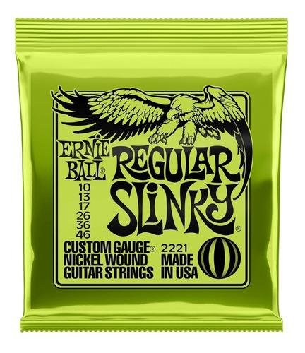 Encordoamento Ernie Ball Guitarra Regular Slink 010