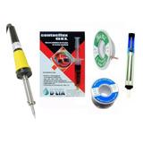Kit Para Soldar Estaño Malla Soldador Flux Desoldador 5 Pzas