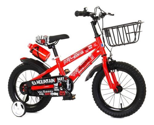 Bicicleta Bici Infantil Rodado 16 Con Canasto Y Caramañola