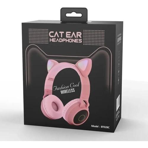 Auriculares Inalámbricos Bluetooth Con Orejas De Gato
