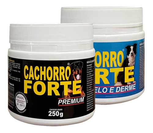 Kit Suplemento 1un Cachorro Forte Premium + 1 Pelo E Derme