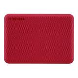Disco Duro Externo Toshiba Canvio Advance Hdtca20x 2tb Rojo