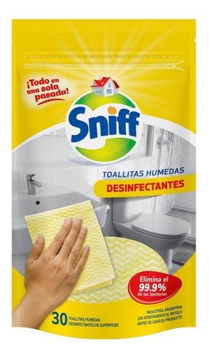 Toallitas Húmedas Desinfectantes Sniff X30 Unidades