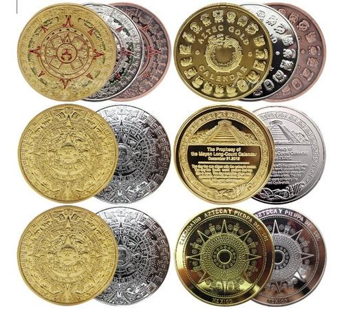 Calendario Azteca Moneda 1 Onza Varios Modelos Con Cápsula.