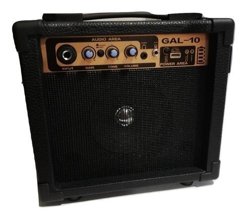 Amplificador De Guitarra Parquer 10w Con Bateria Gal-10