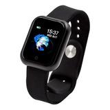 Smartwatch Haiz T80 1.3  Caixa De  Aço Inoxidável  Preta Pulseira  Preta