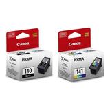 2 Tintas Canon Pg-140 Cl-141 Original Mg2110/mg3110 C/iva
