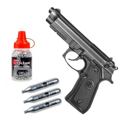 Pistola Balines Co2 Full Metal P92 Corredera Fija