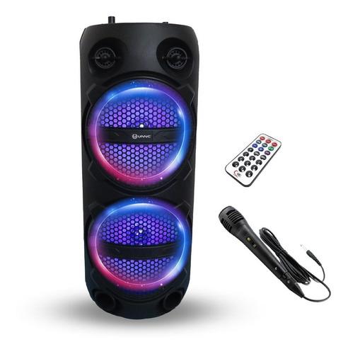 Parlante Bluetooth Inalambrico Karaoke Max Potencia Usb Led