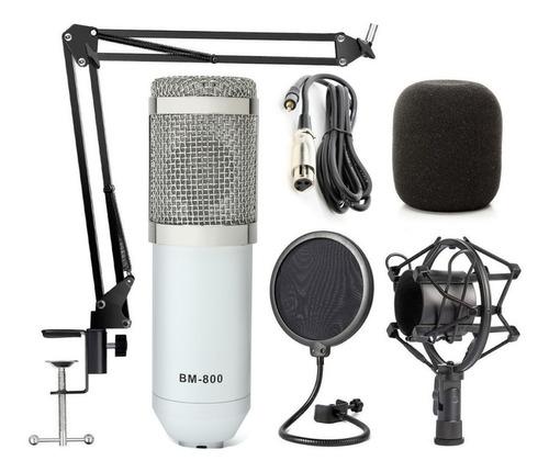 Microfono Condenser Profesional Bm800 Estudio + Kit Completo