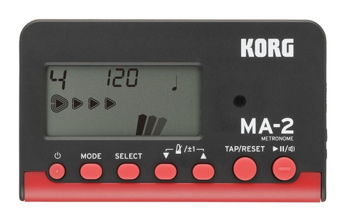 Metronomo Digital Korg Ma2 Salida Auricular Negro/rojo Ma-2