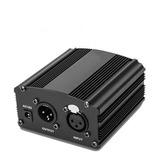 Phantom Power 48v Para Micrófono Condensador Youtube Estudio