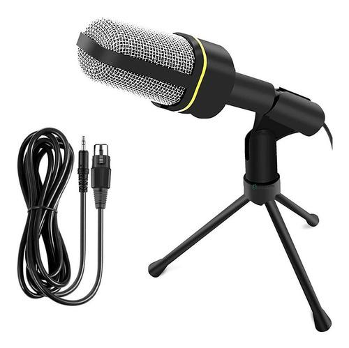 Micrófono Condensador 3.5mm + Mini Trípode Jack 3.5 Sf-920