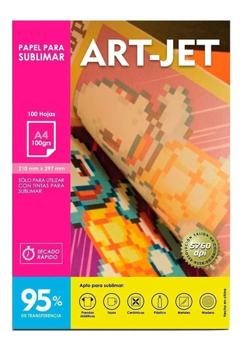 Papel Para Sublimar Específico A4 Art-jet® 100 Hojas Premium