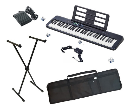 Teclado Casio Ct-s300 Bk Casiotone+pedal Sustain+suporte+bag