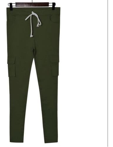 Pantalon Calza Dama Tipo Cargo Alicrado Entrega Hoy!!