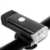 Farol Lanterna Bike Led 4 Funções Recarregável Usb Forte