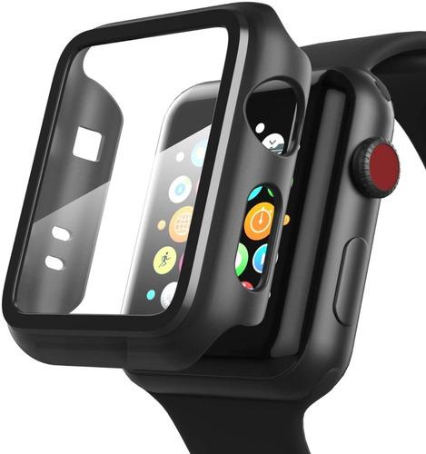 Funda Protectora Apple Watch 42mm Full Cover Con Templado 9h