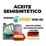 Cambio Aceite 10w40 Semi + Filtro Aceite Y Aire Para Meriva