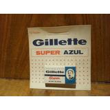 Hojas Afeitar Antiguas Gillette Super Blue Blade - Caja X 10 - Nuevo