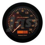 Velocimetro Gps Orlan Rober 85mm Con Soporte Conexión Satelital 12v