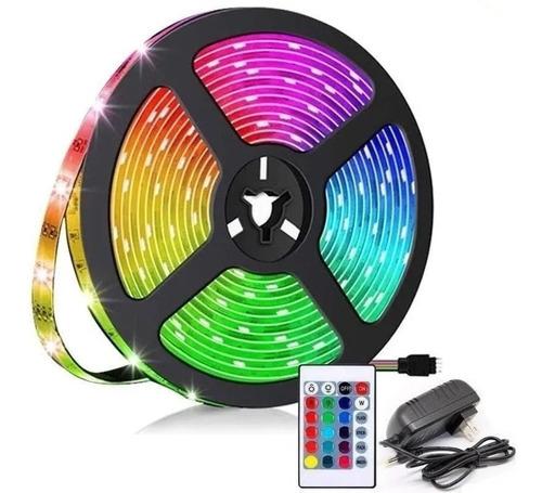 Cinta De Luz Led Multicolor Rgb 5 Metros Tira Led + Control
