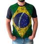 Camisa Camiseta Bandeira Do Brasil Masculina Seleção Brasileira Original