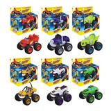 6 Carrinhos De Fricçao Blaze Monster Machine Racer Brinquedo