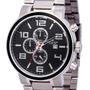 Relógio Backer Masculino 11004653m Pr Cronógrafo Prateado Original