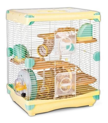 Jaula Para Hamster Rueda + Bebedero + Casa 36 X 27 X 42.5 Cm