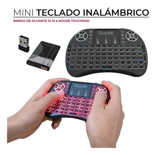 Mini Teclado Inalámbrico Ñ Mouse Touchpad Android Tv Xbox Pc