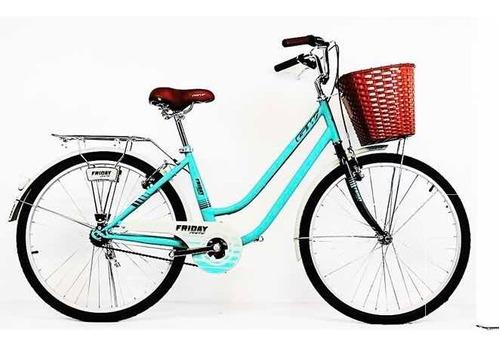 Bicicleta Gw Sunday Playera R26 Dama Acero Ciudad Playa