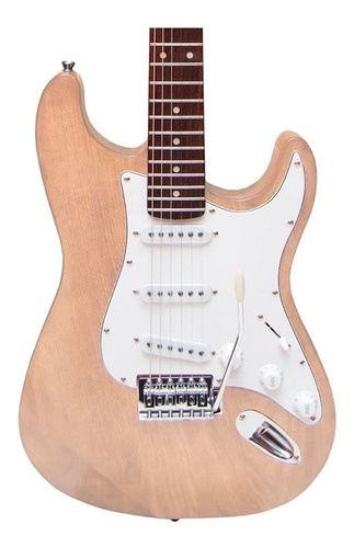 Guitarra Electrica Onas Stratocaster St Natural Wood Bolt On