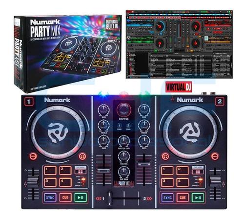 Numark Dj Party Mix Controlador Para Dj Luces Incluidas Cjf
