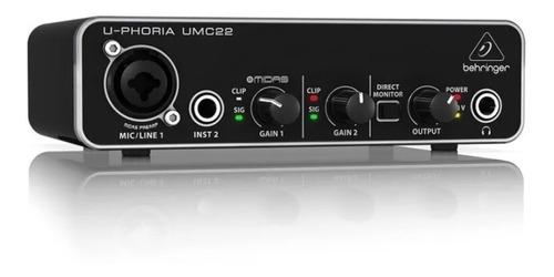 U-phoria Umc22 Interfaz De Audio - Behringer