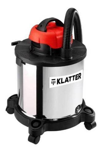 Aspiradora Industrial Klatter Kl-asp01 20l  Acero Inoxidable, Negra Y Roja 220v