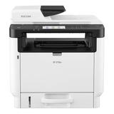 Impresora Multifunción Ricoh Sp 3710sf Con Wifi 220v Blanca Y Gris