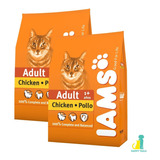 Iams Cat Chicken & Rice 2 X 15 Kg (30 Kg) + Happy Tails