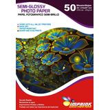 Papel Foto Semi-glossy A4/250g/50 Hojas..envio Gratis X 5 Un