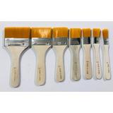 Set Kit 7 Pinceletas Cerda Sintetica Brocha Artistica Pintar