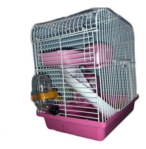 Casa Hamstera Chica Con Rueda Tobogán Accesorios Topitos