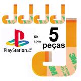 Kit 5 Cabo Flat J Flex Leitor Playstation 2 Ps2 Slim 9000x