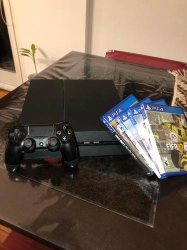 Play 4 Usada Barata, 4 Juegos Físicos, 1 Joystick De 500gb