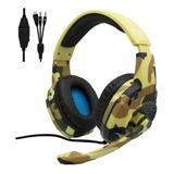 Auriculares Camuflados Usb Led Con Microfono G305  6788a