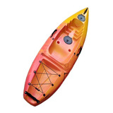 Kayak Wave 1p Con Respaldo Y Remo Ideal Pesca Travesía Kayac