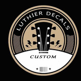 / Waterslide Luthier Decal / Fender, Gibson, Customizables.
