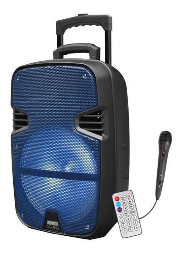 Parlante Eurosound Karaoke Jazz 2400 W Bluetooth Led Es-j15
