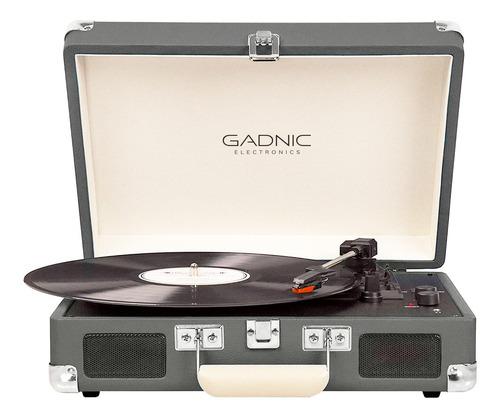 Tocadisco Vinilo Vintage Disco Bluetooth Sd Rca Aux Gadnic