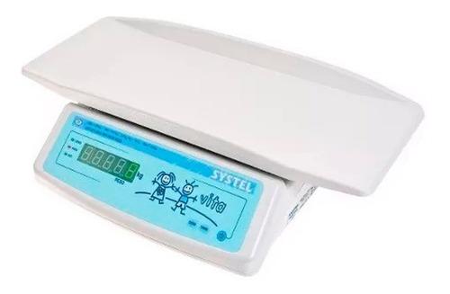Balanza Pediatrica Systel Vita 20kg Para Pesar Bebés Y Niños